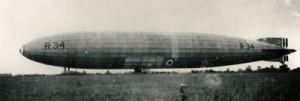 Airship R34 landing